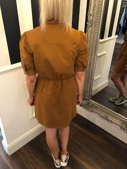 Utility Puff Sleeve Dress - Sandstone