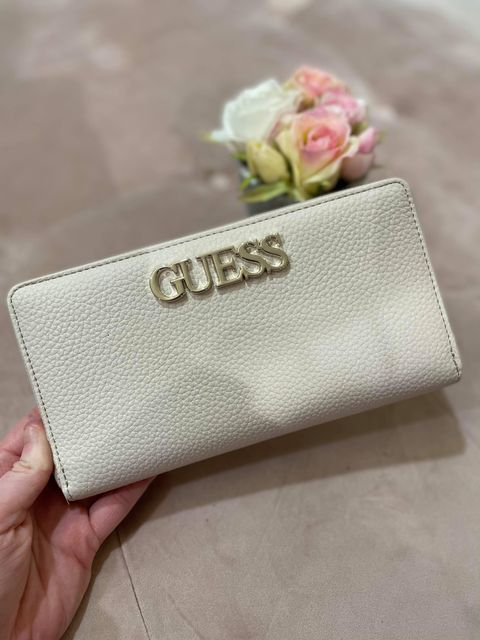Guess Uptown Chic Zip Around Purse - Stone Multi