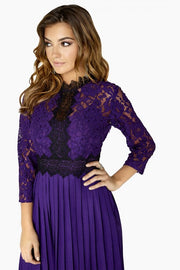 Fiona Lace Panel Midaxi Dress