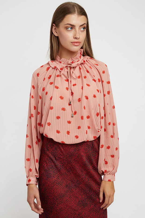 Gerome Oakleaf Blouse - Pink