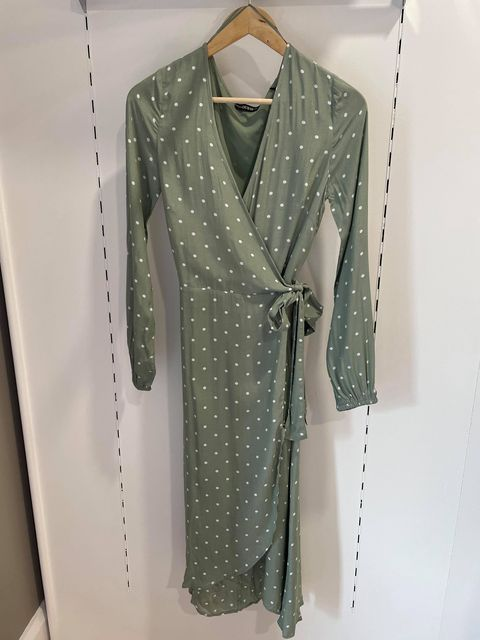 Guess New Baja Dress - Sage and White