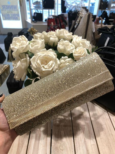 Mary Moet Glitter Clutch Bag