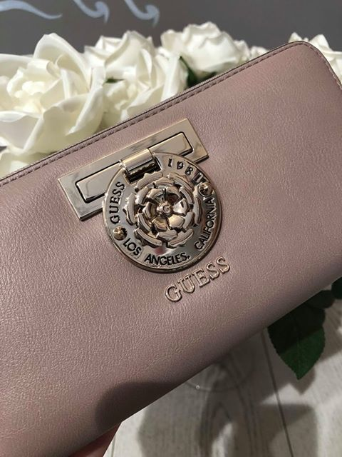 Guess Marlene SLG Large Zip Around Purse - Taupe