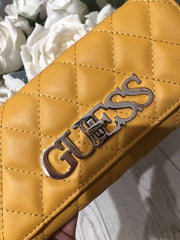 Guess Sweet Candy SLG Large Clutch Organiser Purse - Marigold