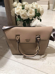 Guess West Side Flap Satchel - Tan