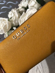 Guess Robyn SLG Large Zip Aroud Purse - Marigold