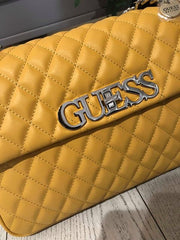 Guess Sweet Candy Large Flap Handbag - Marigold