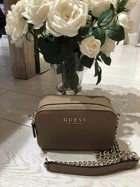 Guess Robyn Crossbody Camera Handbag - Taupe