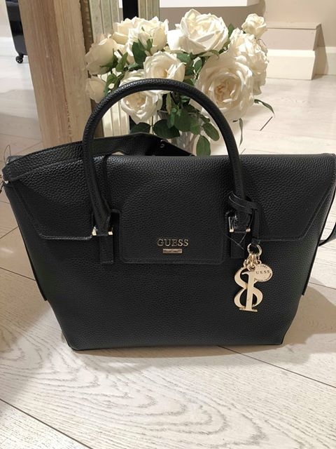 Guess West Side Flap Satchel - Black