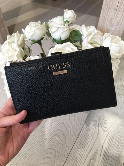 Guess West Side SLG Double Zip Organiser Purse - Black