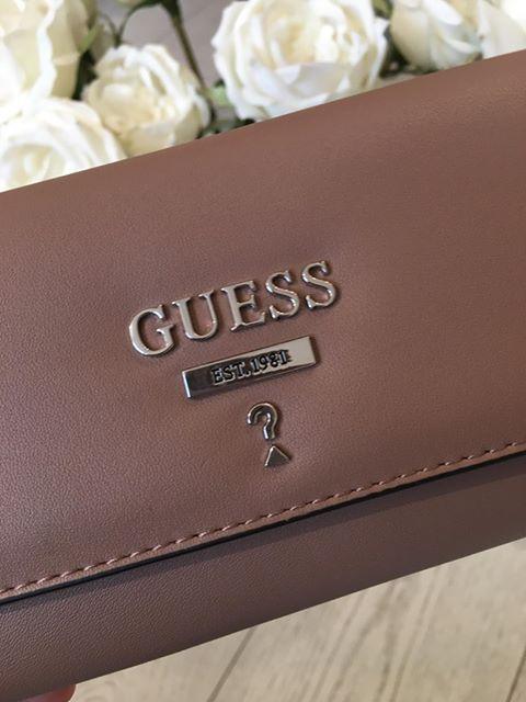 Guess Leanne SLG Large Clutch Organiser Purse - Taupe