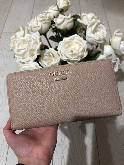 Guess West Side SLG Cheque Organiser Purse - Tan