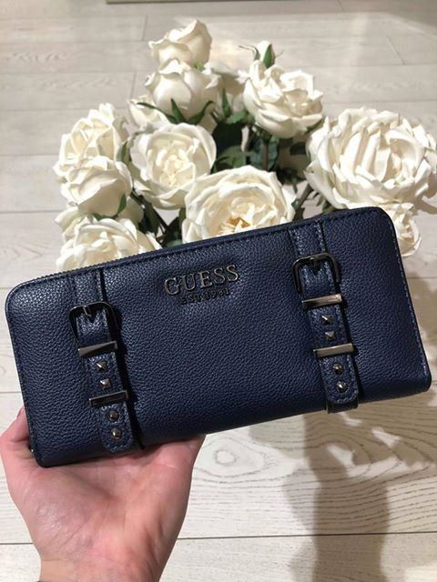Guess Eileen SLG Large Zip Around Purse - Midnight