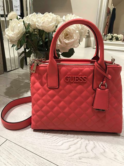Guess Elliana Status Satchel - Coral