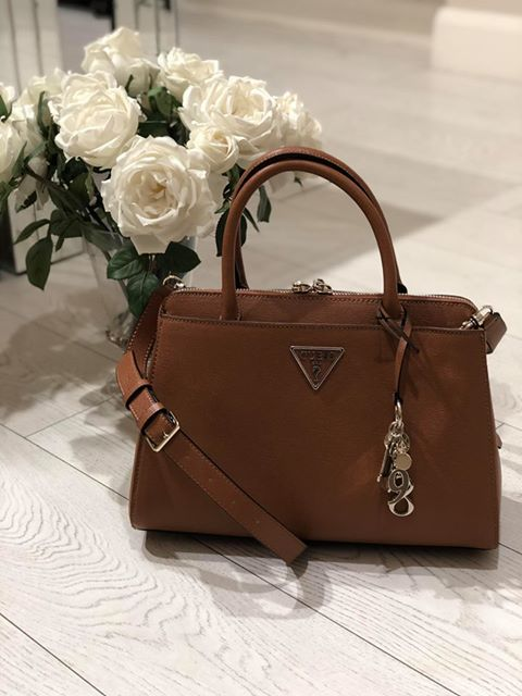Guess Maddy Girlfriend Satchel - Cognac 7bdd7d73f0a85