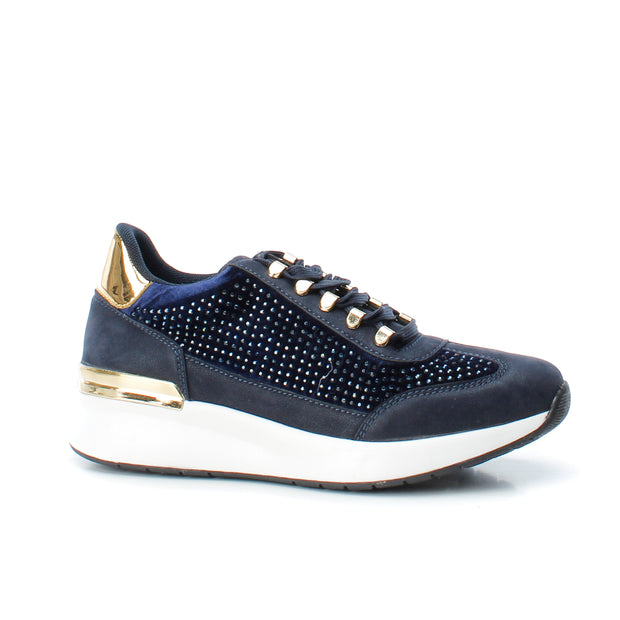 Navy Embellished Detail Sneaker