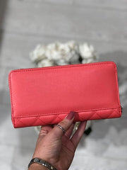 Guess Elliana Cheque Organiser Purse - Coral