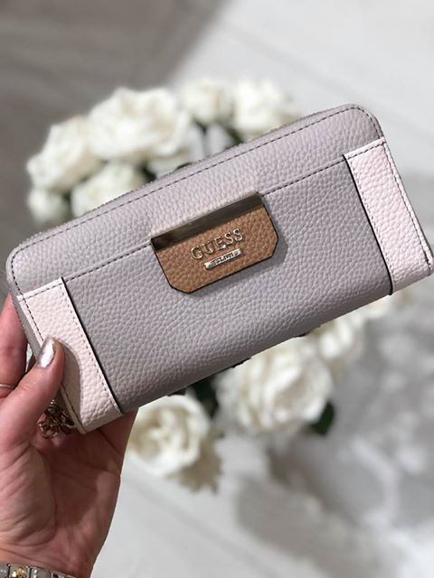 Guess Bobbi SLG Large Zip Around Purse - Taupe