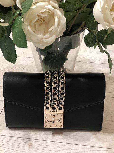 Guess Prisma Clutch Mini - Black