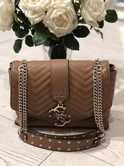 Guess Violet Shoulder Bag - Tan