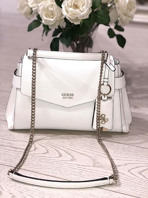 Guess Colette Shoulder Bag - White