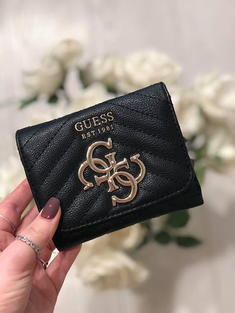 Guess Violet Small Trifold Purse - Black