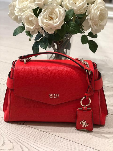 Guess Colette Shoulder Bag - Tomato