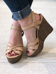 Guess Guliver Zeppa Wedge - Light Brown