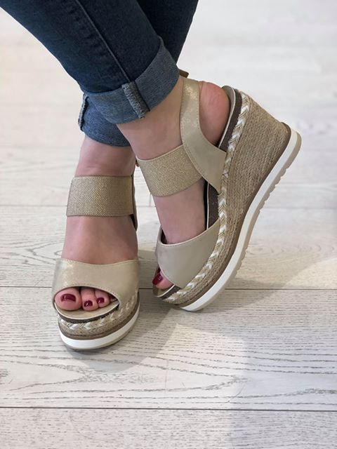 Gold Pu Combined Wedges
