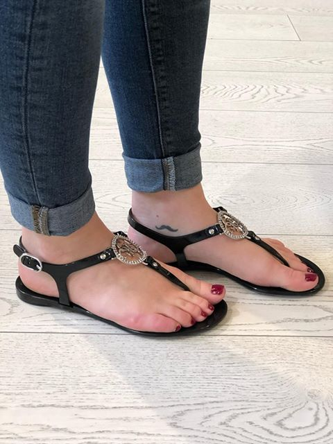 Guess Jacode Thong Sandal - Black