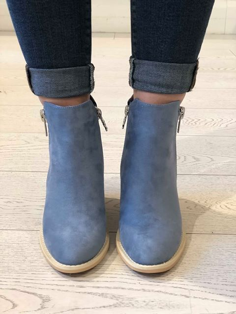 Jeans Microfiber Combined Ankle Boots