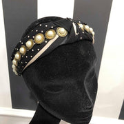 Polka Dot Headband - Black & White