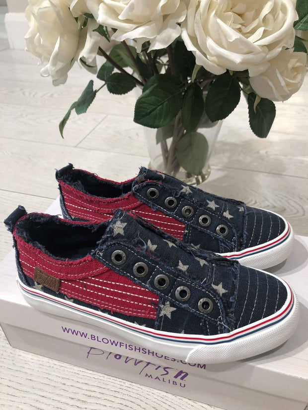 Play - Navy Star Print/Jester Red Cozumel Linen