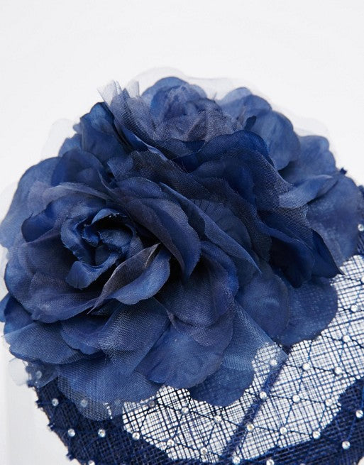 Rosie Fascinator - Navy