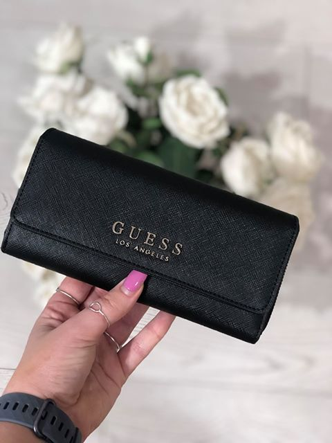 Guess Robyn Slg Large Clutch Organiser Purse - Black