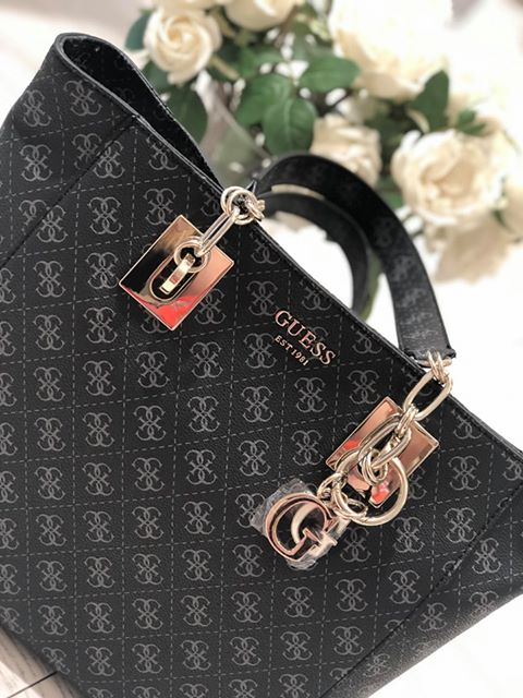 Guess Logo Rock Tote - Coal