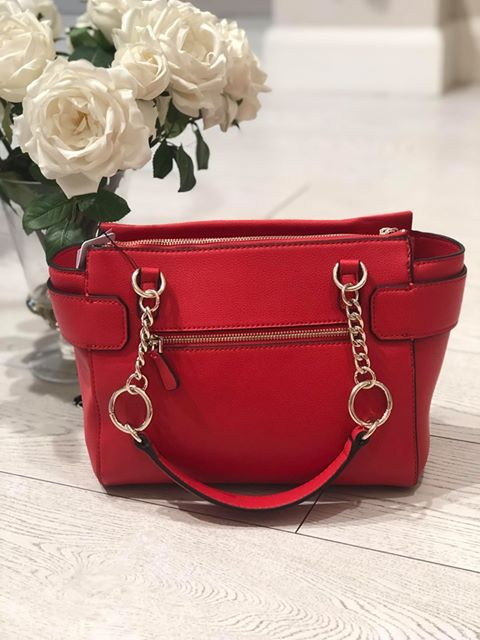 Guess Analise Society Satchel - Red