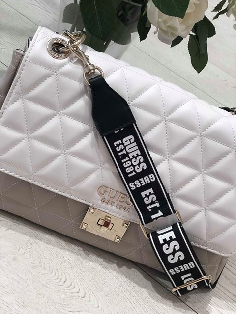 Guess Laiken Shoulder Bag - White Multi