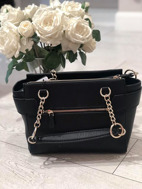Guess Analise Society Satchel - Black