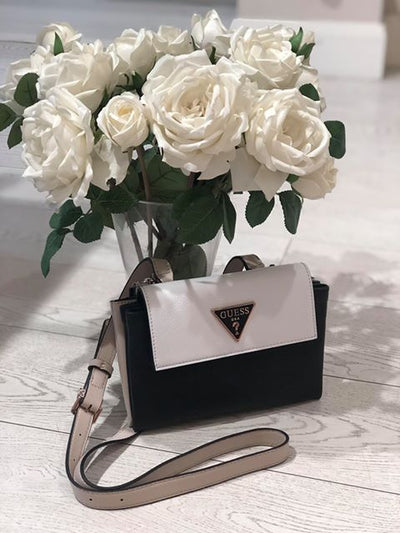Guess Analise Mini Crossbody - White Multi