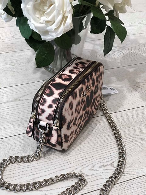 Guess Robyn Crossbody Handbag - Leopard