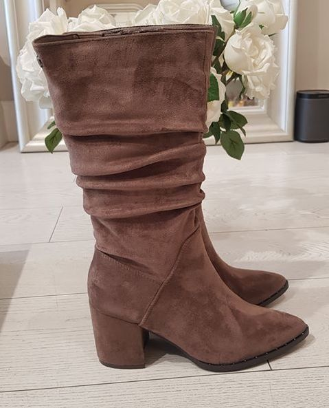 Taupe Microfiber Boot