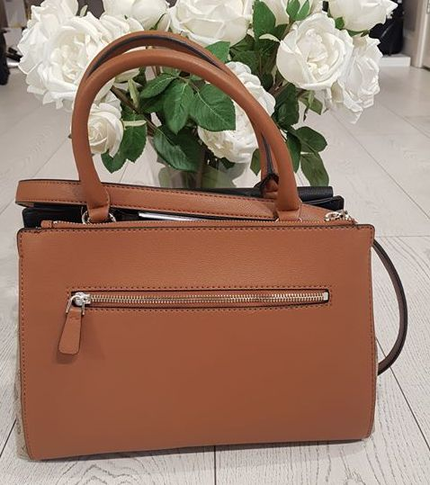 Guess Magnolia Society Satchel - Cognac Multi