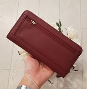 Guess Robyn Large Zip Around Purse - Merlot