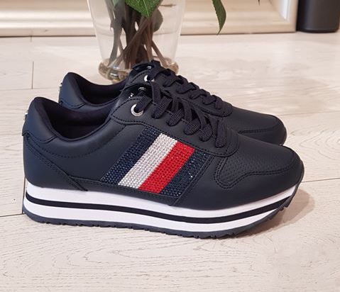 Tommy Hilfiger Retro Embellished Detail Sneaker - Midnight