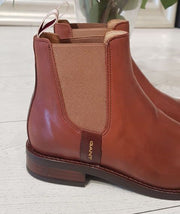 Fay Chelsea Leather Boot - Cognac