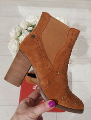 Camel Microfibre Ankle Boot