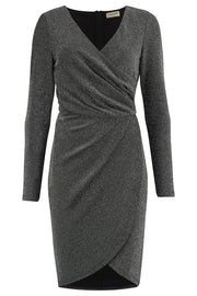 Kelli Sparkle Wrap Dress - Silver
