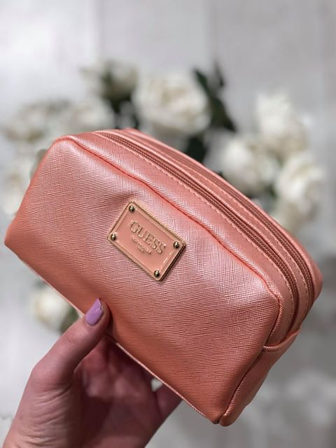 Guess Bahia Double Zip Bag - Peach
