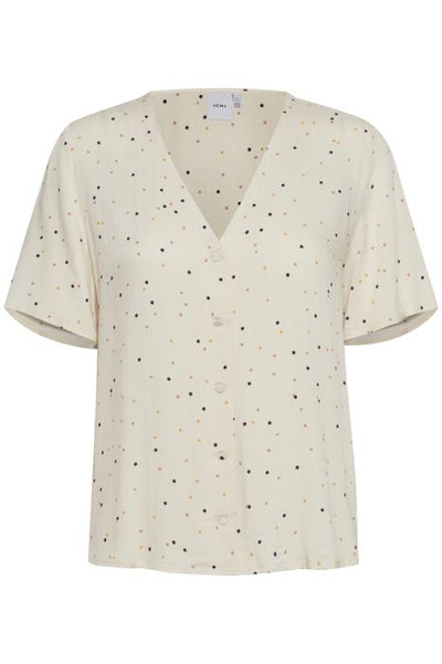 Bella Short Sleeve Top - Tapioca